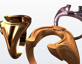 3D printable model Horse shoe ring more