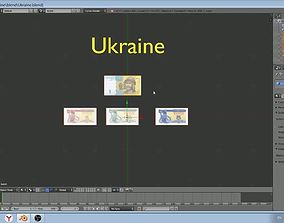 Ukraine - 4 currency notes model