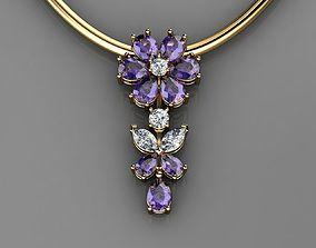 Flower Pendant Women Jewelry 3D print model