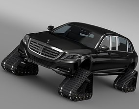 Mercedes Maybach Pullman Crawler 2016 3D model