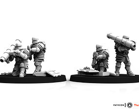 3D print model Feudal Guard Missile Launcher Team