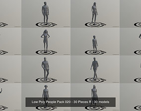 Low Poly People Pack 020 - 30 Pieces R 3D