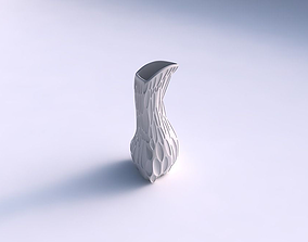 3D print model Vase puffy bent triangle with
