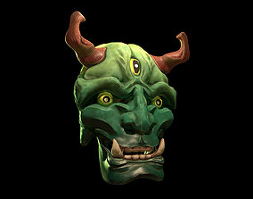 3D asset Japanese Hannya Mask PBR Gameready