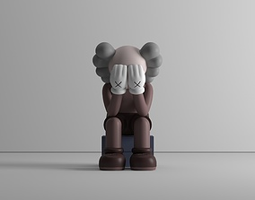 Passing through - by Kaws - 3 colors - 3D model