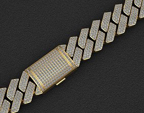 3D printable model 18 MM MIAMI CUBAN LINK CHAIN DIAMOND 3