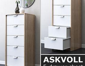 IKEA ASKVOLL 5-drawer chest 3D