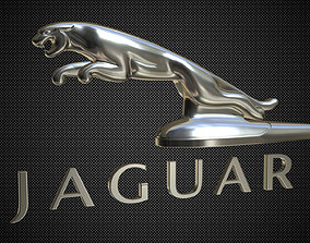 Jaguar hood ornament 3D