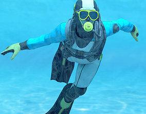 3D model Diver - Dry Suit v2 for Maya