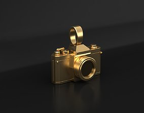 3D print model lens Photo camera pendant