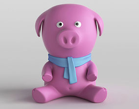 Toy Pig Animal Character 3D model