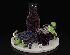 Blueberry juice 3D model