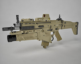 Combat Assault Rifle FN SCAR-H 3D