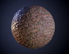 Brick Wall Dirty Grunge Vines Seamless PBR Texture 3D