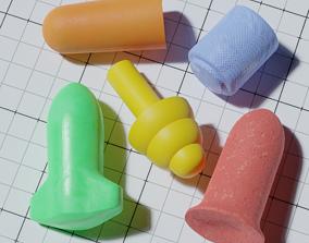 3D asset Various Earplugs