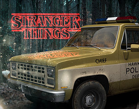 3D Chevrolet truck stranger Things