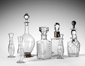 Crystal Drinking Set 3D