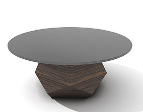 3D asset Mushroom Shaped Wooden Coffee Table