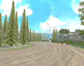 animated Race Rally Track Road Environment Pack For 2