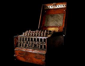 Enigma Machine - Old German WW2 Military 3D model
