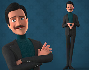 CARTOON MAN - RIGGED TEACHER AND FATHER CHARACTER 3D model
