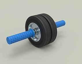 Twin-wheeled gymnastic roller 3D