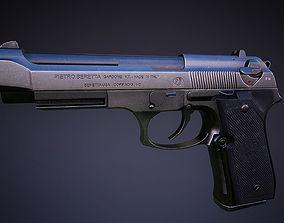 3D model Beretta 92 Low-poly