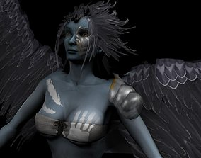 3D model Clothed Harpy
