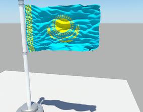 3D model Kazakhstan flag
