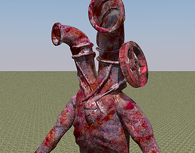 3D low poly Pipe Head Character realtime