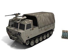 3D asset Cargo carrier M548 low-poly model