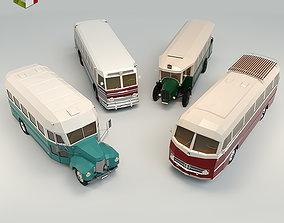 Low Poly Bus Pack 03 3D model