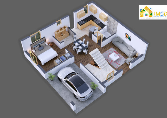 3D ARCHITECTURAL FLOOR PLAN VISUALIZATION SERVICES FOR PROPERTY RENTALS