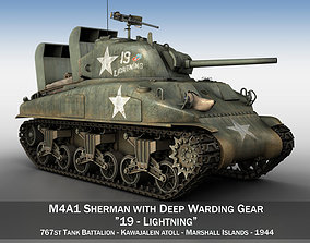 3D model M4A1 Sherman - Lightning marines