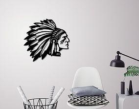 3D print model Indian man wall decoration