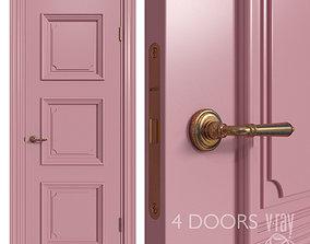 Internal door Academy Navarra 4 doors 2 doorknob 3D