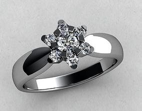 3D print model ring diamonds