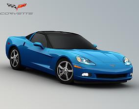 3D asset 2008 Chevrolet Corvette C6 Coupe