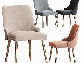 Andover Side Chairs Dusty Rose Velvet 3D