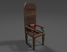Wooden Throne 3D asset