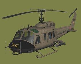 Bell UH-1D HUEY Vietnam 1st Cavalry 3D model