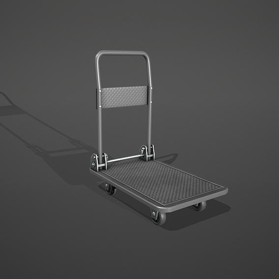 Grey Folding Platform Truck Trolley