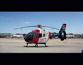 Eurocopter EC 135 Medical 3D animated