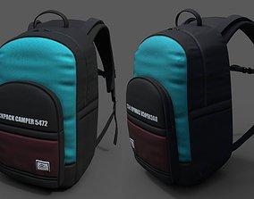 3D asset Backpack Camping Generic military combat 2