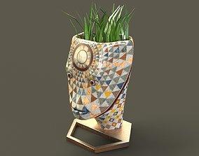 3D asset Head Vase