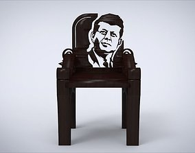 3D model Unique Chair Ornament with with John F Kennedy 1