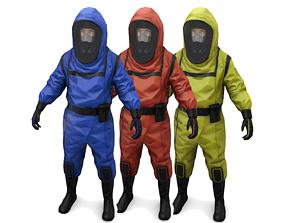 Hazmat suit 3D asset realtime