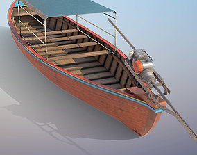 Long Tail Boat 3D model