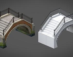 Venetian Bridge 3D asset
