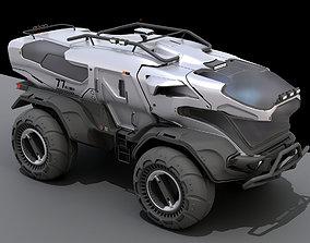3d concept sci-fi vehicle